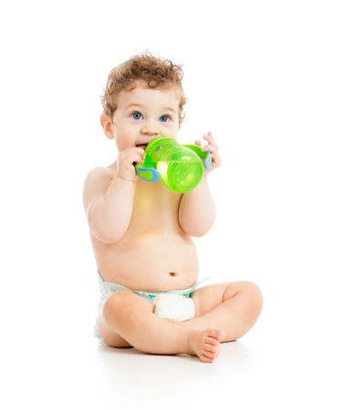 babyhood: kid child drinking from bottle