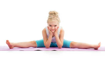 Gymnast kid girl isolated photo