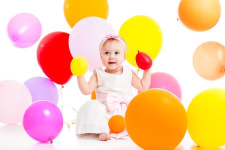 kid girl with balloons Stock Photo - 23177197