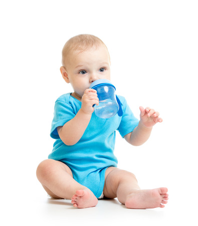 infancy: kid child drinking from bottle
