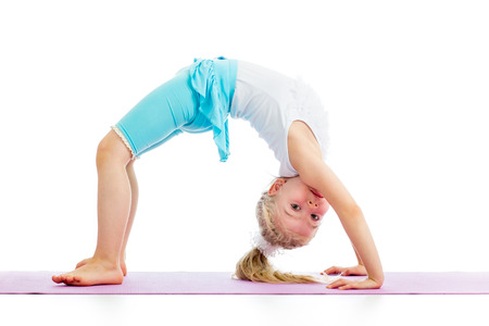 child girl doing gymnastics photo