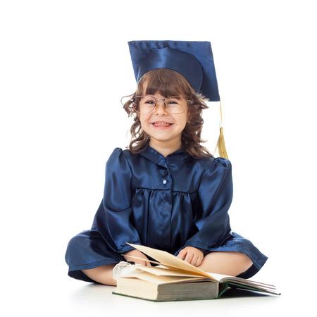 Prodigy: zabawny dzieciak w akademika ubrania z książki