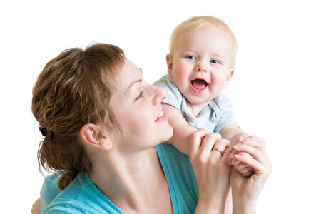 joyful mother playing with her kid boy Stock Photo - 25225239