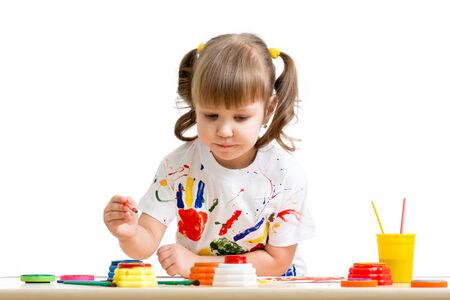 child girl painting photo