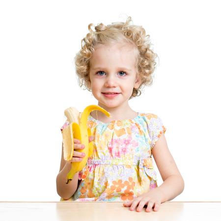 comiendo platano: Muchacha del cabrito que come el plátano