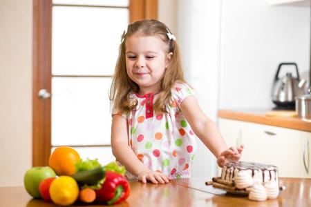 harmful: child refusing harmful food in favor of vegetables