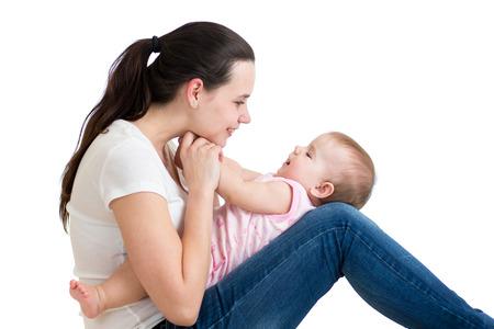 Happy mom having fun with her baby Stock Photo - 26748038