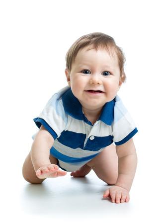 crawling baby: crawling baby boy isolated