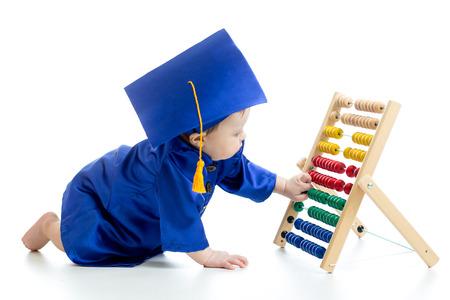 early learning: Beb� de aprendizaje temprano Foto de archivo