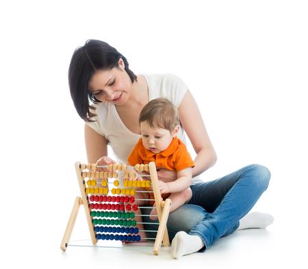early learning: aprendizaje temprano del beb� Foto de archivo