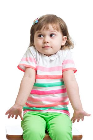Jongen meisje kijkt verbaasd, geïsoleerde Stockfoto - 27698166