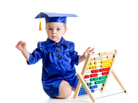 early learning: aprendizaje temprano del beb� concepci�n Foto de archivo