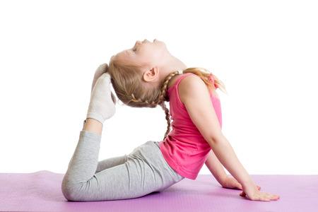 málo: Mladá dívka dělá gymnastiku Reklamní fotografie