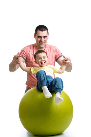 ball, fit, fitness, kid, parent photo