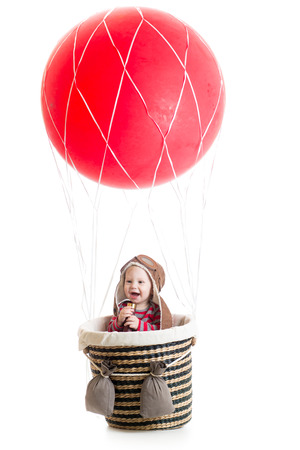 baby on hot air balloon photo