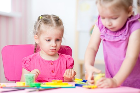 tinkering: children playing together in nursery at home