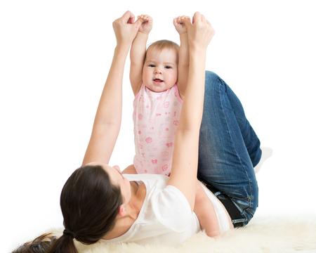 position d amour: Mère et bébé gymnastique, exercices de yoga