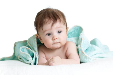 curios: Cute baby with towel