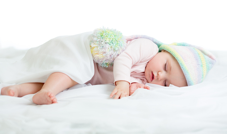 Funny sleeping infant photo