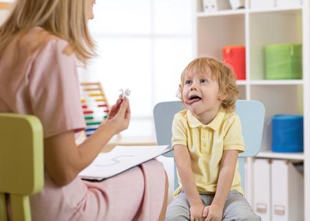 スピーチ療法の練習 写真素材