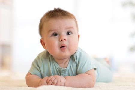 Portrait of funny baby boy Stock Photo