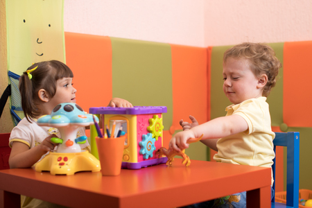 Children play before they see the doctor