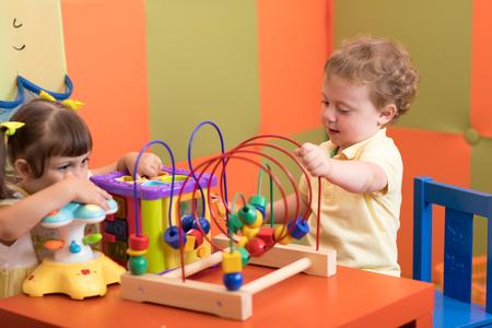 Children play in nursery Stock Photo