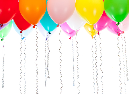 colorful balloons on white background 免版税图像