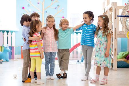 Happy kids at daycare Banco de Imagens