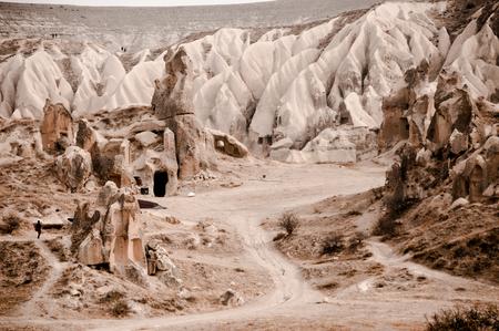 View of the unique volcanic landscape of Cappadocia, Turkey Imagens