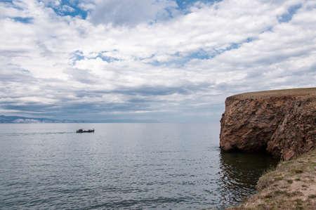 Cape on Lake Baikal and beautiful cloudy sky on a summer day Reklamní fotografie