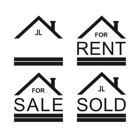 Property sign using for signing the house, apartement, building and anything else for rent, sale or sold out. It can be use for advertising sign too. This sign using a flat design and white base color