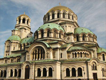 Alexander Nevsky Cathedral on sky background