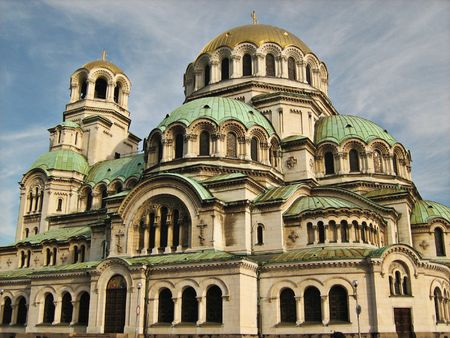 Alexander Nevsky Cathedral sullo sfondo del cielo  Archivio Fotografico - 7934158