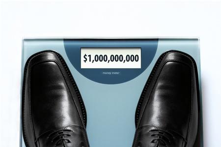 Business success concept - wealthy