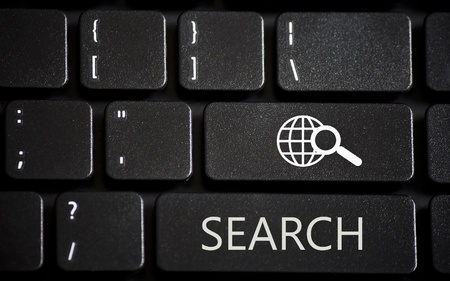 Laptop keyboard with web search buttons Stock Photo - 12999634