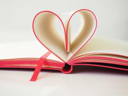Heart from red book pages