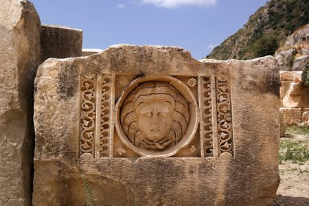 headstones: Demre. headstones carved with images