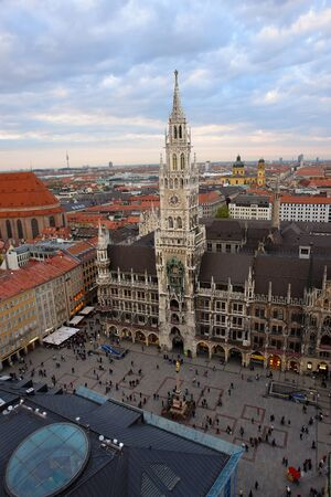 town hall square: Town Hall Square, Munich, Germany, photo taken from a height of bell tower