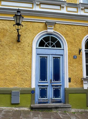 tallinn: outside the door of the old Tallinn Stock Photo