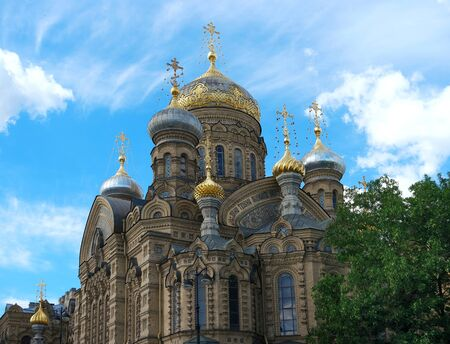 lieutenant: St. Petersburg, Lieutenant Schmidt Embankment 27, Compound Optina, the cathedral, close-up dome