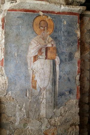 nicholas: Frescoes Church of St. Nicholas. Demre. Turkey Editorial