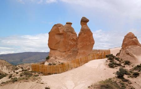 geological formation: A geological formation Camel consisting of volcanic tuff. Cappadocia in Central Anatolia is a UNESCO World Heritage, Turkey Stock Photo
