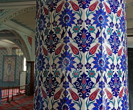 prayer rug: The interior of the majestic mosque at Manavgat in Turkey. Amazingly beautiful decor columns.