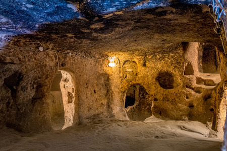 Derinkuyu - cave city in Cappadocia. Turkey. In Turkey, there are also cave city - Kaymakli, Derinkuyu Ozkonak, Adzhigol.