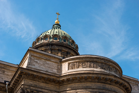 kazanskiy: Kazan Cathedral -Cathedral of the Kazan Icon of the Mother of God-. Saint Petersburg, Russia. Dome closeup.