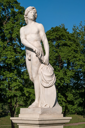 allegory: Gatchina Palace. Sculpture in the Dutch garden. Allegory - Endeavour. Close-up. Editorial