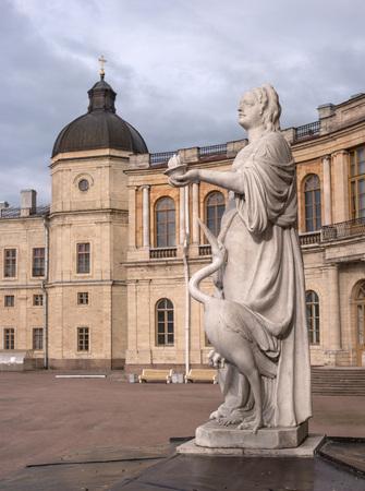 vigilance: Gatchina Palace. Sculpture at the front door. Allegory - vigilance. The sculptor Johann Morleyter.