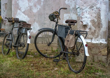 kaolin: Two bicycle since World War II. Bicycles Nazi soldiers. Baggage - boxes of ammunition, gas masks and kaolin bag.
