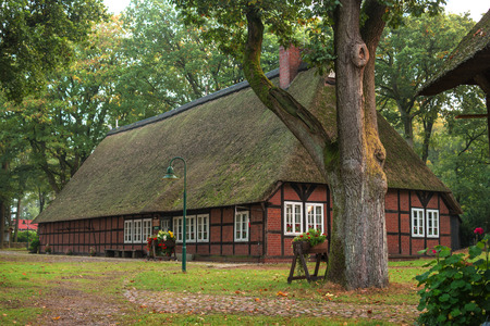Schneverdinge, Germany - October 10, 2016: Village Museum Heimathaus De Theeshof. Museum of Agriculture in the open air. Editorial
